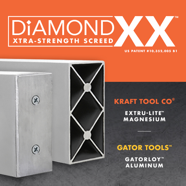 Diamond Double X Screed details