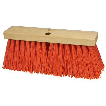 "Picture of 18"" Heavy Duty Orange Sweeping Broom Head"