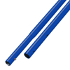"Picture of 6' Blue Powder Coated Swaged Button Handle - 1-3/8"" Diameter"