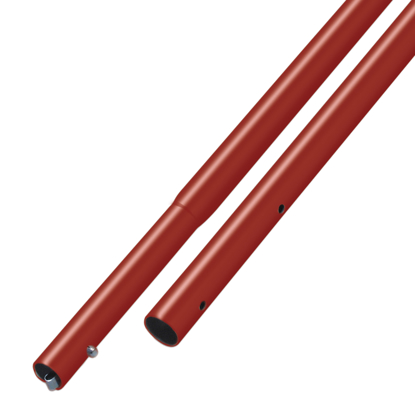 "Picture of 8' Red Powder Coated Swaged Button Handle - 1-3/8"" Diameter"