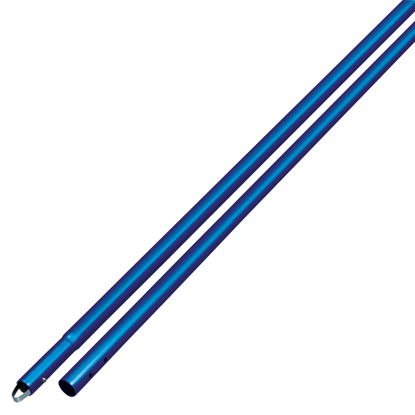 "Picture of 10' Anodized Aluminum Swaged Button Handle - 1-3/4"" Diameter (Blue)"