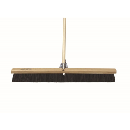 "Picture of 24"" Wood Concrete Floor Broom with Handle"