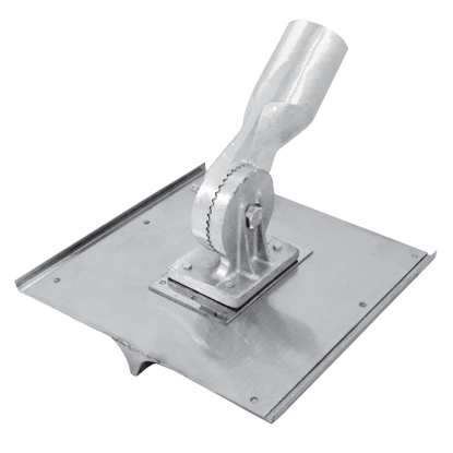 "Picture of 10"" x 10"" 1/2""R, 3/4""D Stainless Steel Walking Seamer/Groover with Threaded Handle Socket"