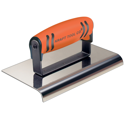 "Picture of 10"" x 4"" 1-1/2""R Stainless Steel Highway Edger with ProForm® Handle"