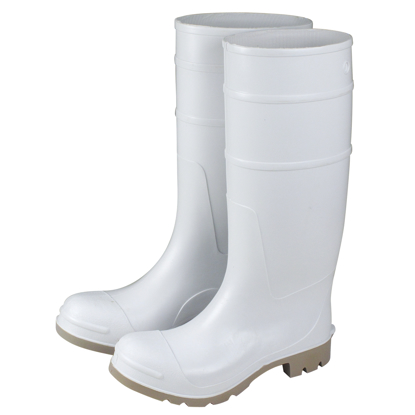 "Picture of 16"" White Over-The-Sock Boots - Size 7"