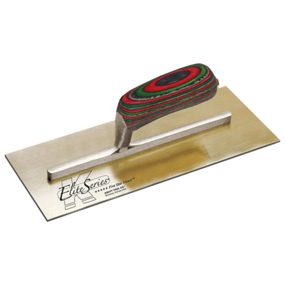 "Picture of Elite Series Five Star™ 13"" x 5"" Golden Stainless Steel Plaster Trowel with Laminated Wood Handle"