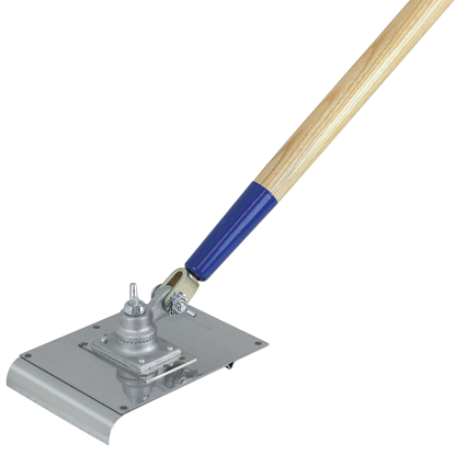 "Picture of 6"" x 8"" 3/4""R Stainless Steel Walking Edger/Groover with Handle"