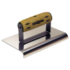 "Picture of 9"" x 5"" 3/8""R Elite Series Five Star™ NY Stainless Steel Highway Edger with Cork Handle"