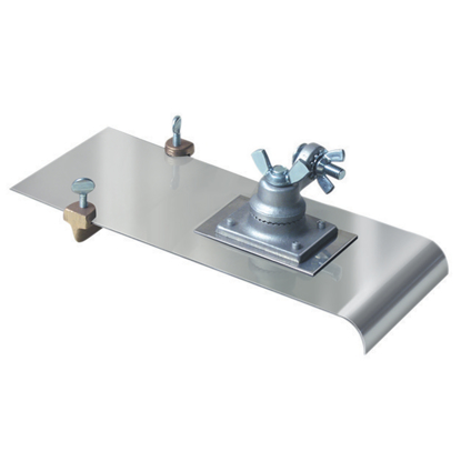 "Picture of 5"" x 12""  3/4""R, 3/4""D Stainless Steel Edger with Adjustable Groover with All-Angle Bracket and Handle"