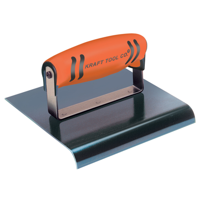 "Picture of 9"" x 4"" 1/2""R Blue Steel Edger with ProForm® Handle"