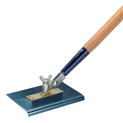 "Picture of 9"" x 12"" 3/4""R All-Angle Blue Steel Walking Edger with Handle"