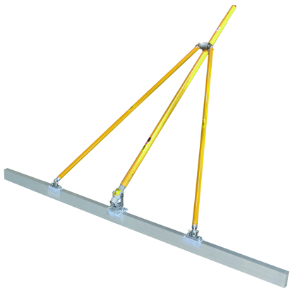 "Picture of Gator Tools™ 8' x 1-1/2"" x 3-1/2"" Diamond XX™ Paving Screed Kit with Bracket, Out Riggers, & 3 Handles"