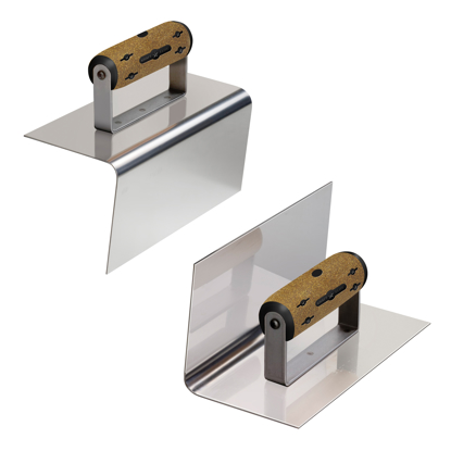 "Picture of 8"" x 4"" 1/2""R, 4""L Elite Series Five Star™ Matched Pair Step Tool with Batter with Cork Handle"