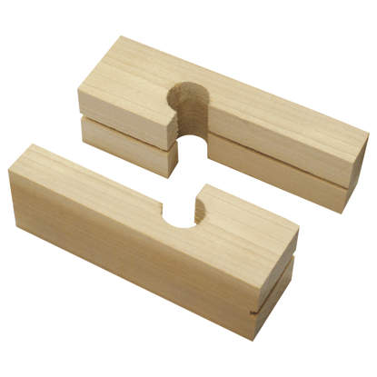 "Picture of 4"" Wood Line Blocks (Pair)"