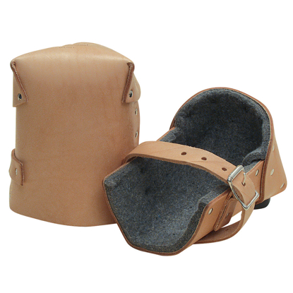 "Picture of 1/2"" Thick Felt Leather Knee Pads (Pair)"