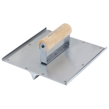 "Picture of 10"" x 10"" 3/4""R, 7/8""D Stainless Steel Seamer/Groover with Wood Handle"
