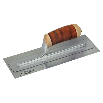 "Picture of Elite Series Five Star™ 14"" x 4"" XtremeFLEX™ Stainless Steel Trowel with Leather Handle"