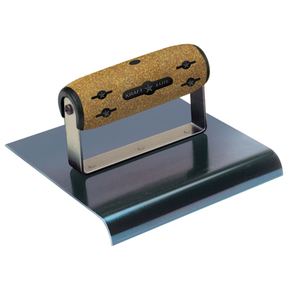 "Picture of 6"" x 5-1/2""  3/4""R Elite Series Five Star™ Blue Steel Hand Edger with Cork Handle"