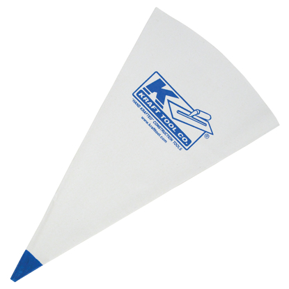 "Picture of 23"" x 13"" Poly-Lined Grout Bag with Blue Tip"