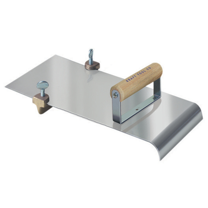 "Picture of 5"" x 12""  1/2""R, 1""D Stainless Steel Edger with Adjustable Groover"