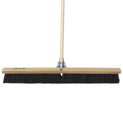 "Picture of 18"" Wood Concrete Floor Broom with Handle"