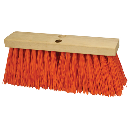"Picture of 16"" Heavy Duty Orange Sweeping Broom Head"